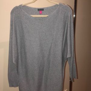 Comfy off the shoulder grey sweater Vince Camuto